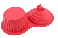 wholesale FDA approved microwave oven safe non stick large Giant Top Jumbo Size Cupcake silicone baking molds