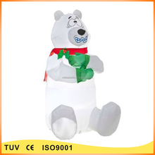 outdoor inflatable polar bear christmas decoration