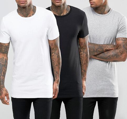 Wholesale Custom Tall Tee Longline T Shirt Elongated T Shirt - Buy ...