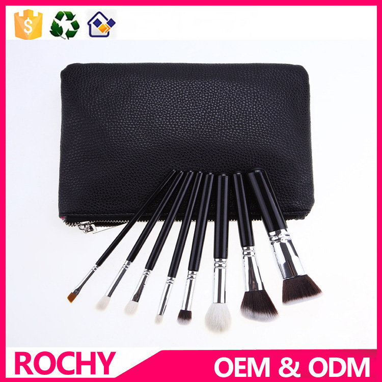 Soft Synthetic Hair Makeup Brush High Quality With PU Bag