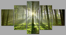 Natural landscape forest decorative canvas art ,wrapped canvas photo printing wholesale