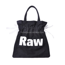 Wholesale China bag supplier Korean fashion canvas bulk reusable drawstring shopping bag , canvas handbag