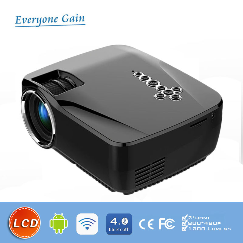 traditional 1200 lumens video game projector with LCD display