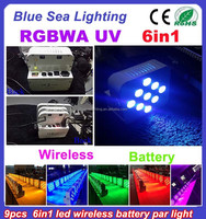 Night clubs in delhi india rgbwa uv 6in1battery wireless led par can