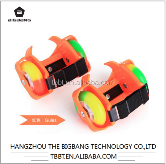 BIGBANG hangzhou attachable wheels for shoes two wheel gyro scooter hot wheels flashing toy wholesale cheap price