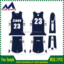 New Style Cheap short sleeve basketball jersey