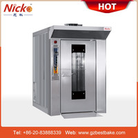 16 Trays diesel rotary oven for bakery equipment, rack oven with bread machine
