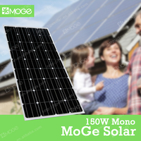 Moge A grade 150w 12v pv solar panel wholesale for home with best price