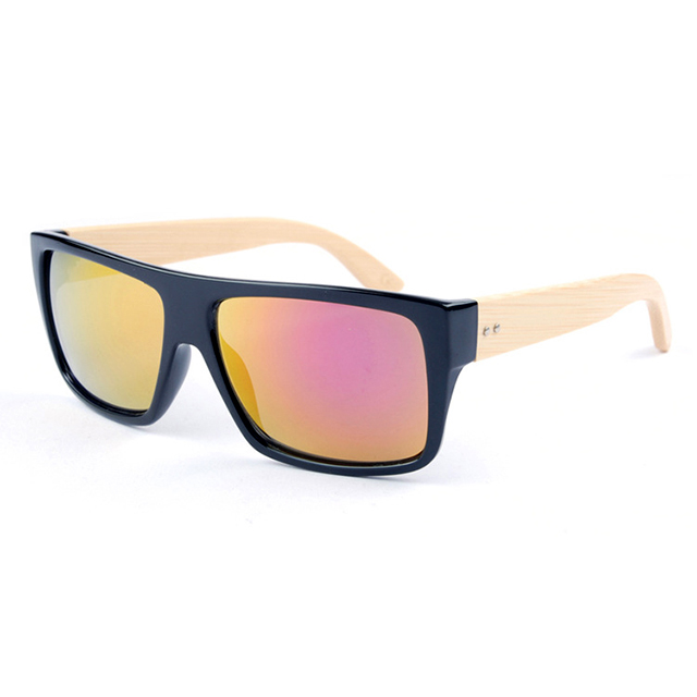 fashion high quality custom logo bamboo sunglasses handcrafted oem DLK1033B