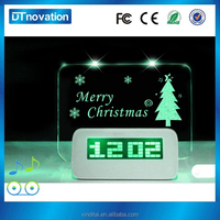 LED decoration clock, mini alarm clock with usb
