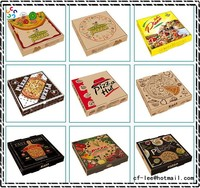 Personalized Custom Made Rectangular Carton Corrugated Paper Pizza Box