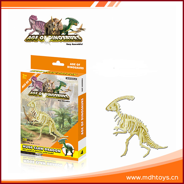 Scientific exploration dinosaur skeleton 3d crystal puzzle for kids