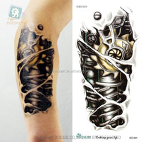 QC601/Body Temporary Tattoos Machine Shoulder 3d Tattoo Rocking Your Life