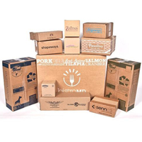 Customized 3 5 Ply Strong Brown Corrugated Shipping Boxes Moving Cartons