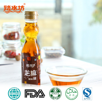 180 ml 100 % pure Bright light golden glass bottled blending sesame seed oil