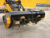 Attachments rotary tiller for compact skid steer loader with Kubota engine