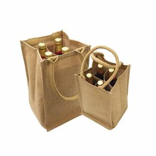 Best quality wine jute bag 6 bottle shopping jute bag for promotional