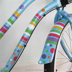 Self adhesive tandem bicycle decals
