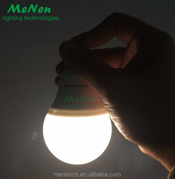 2017 hot new products LED Intelligent Emergency Plastic Light Bulb