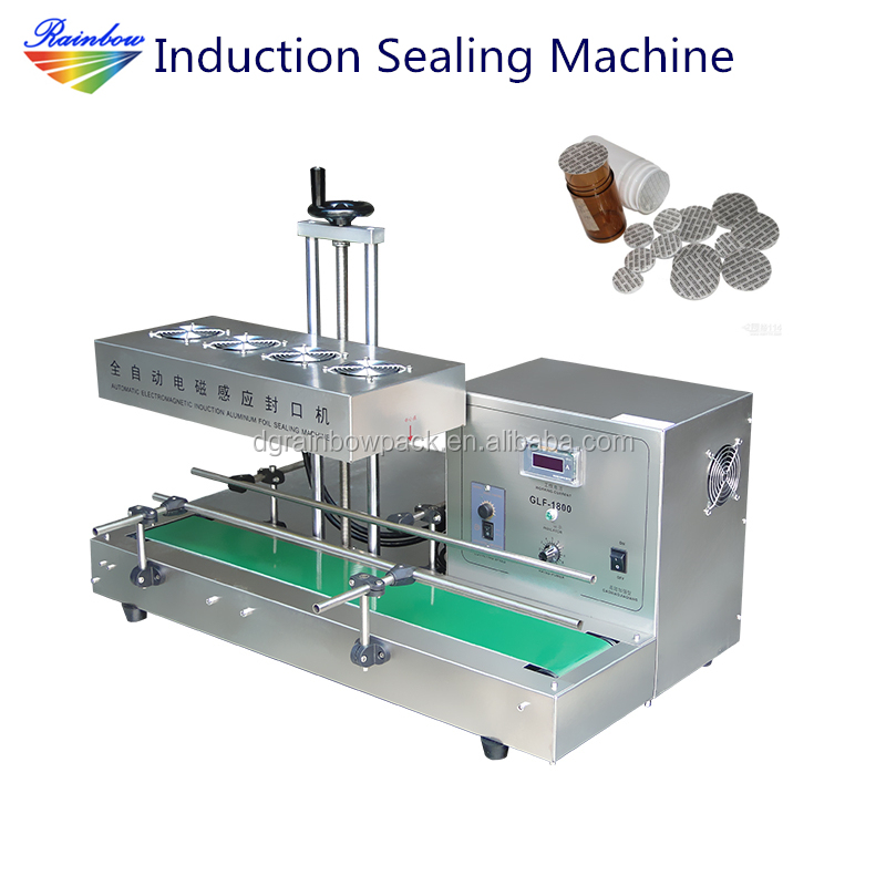 Automatic plastic bottle cap sealing machine induction sealer