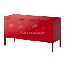 KD Home Living Room Metal Storage Tattan TV Stand Cabinet
