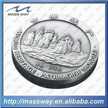 engraved die casting 3D zinc alloy custom old silver coin