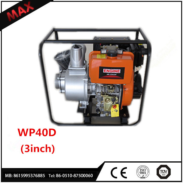 powerful 4inch diesel water pump micro size with open frame