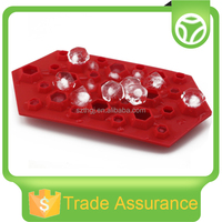 2016 new design diamond shaped silicone ice cube tray ice mold for drinking