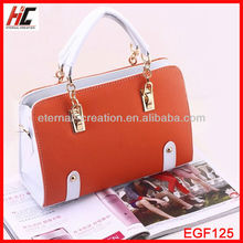New Design Fashion Lady PU Leather Handbag 2014 Hot Selling Products Made in Taiwan
