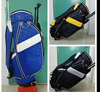 Custom Leather Golf Stand Bag With wheel