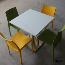man-made stone kfc table and chairs /kfc dining chair furniture