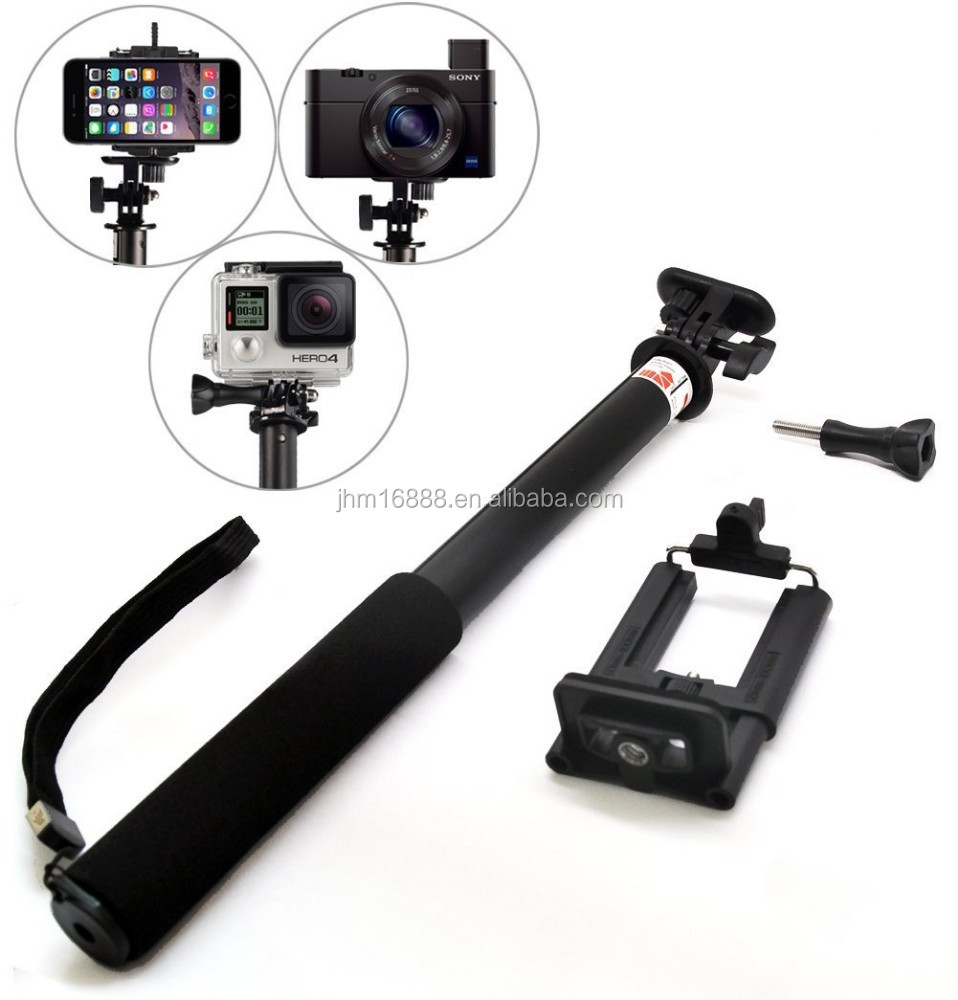 zoom in and zoom out monopod selfie stick for iphone 6 samsung remote shutter. Black Bedroom Furniture Sets. Home Design Ideas