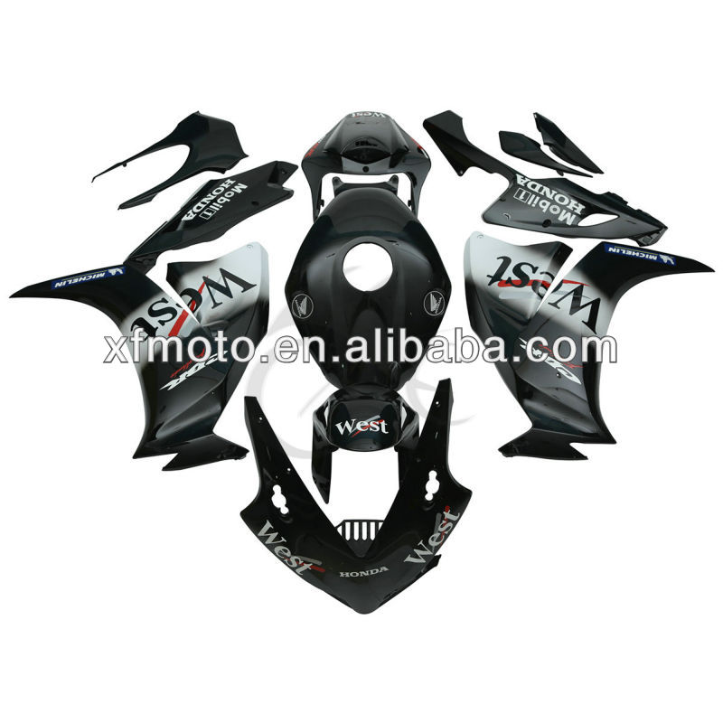 For Honda CBR1000RR CBR 1000RR 2012 Black White ABS Fairing Body work Kit Set
