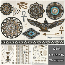 Eagle Tattoo Stickers for Men/ Women Waterproof Temporary Tattoo Makeup Chest Back Arm shawl tattoo Sex Products YS035