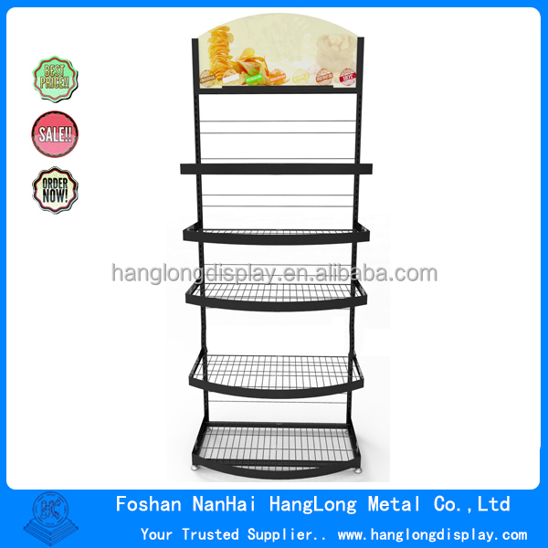 Metal materials potato chips display rack stand