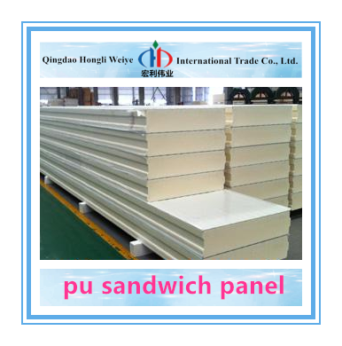 Color Steel 100mm thick sandwich wall panel pu panel price isopanel