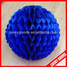 wholesale royal blue wedding paper honeycomb ball
