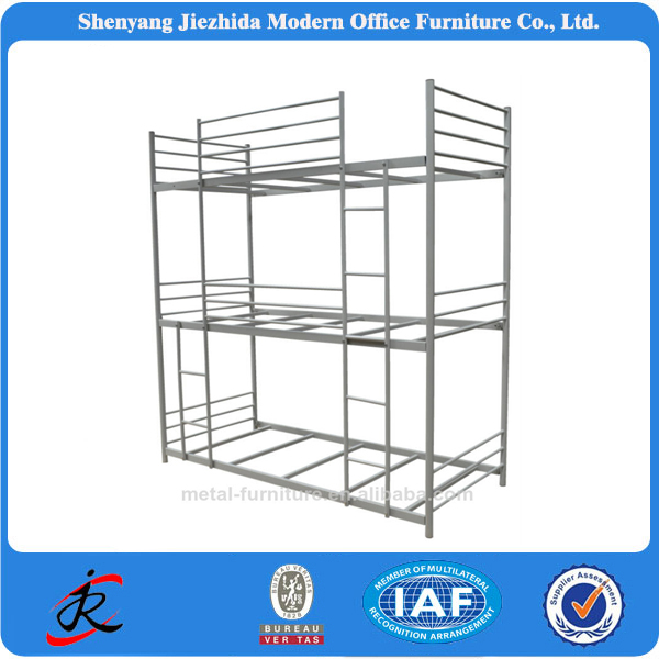 China Factory Supply Modern Metal bedroom furniture Triple bunk bed
