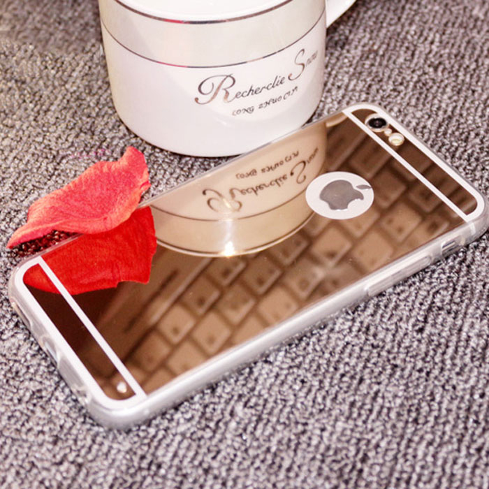 mirror case for iphone 6/High quality luxury crystal mobile phone case for iphone5/6/5s/soft silicone back cover for smartphone