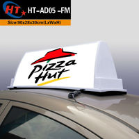 White PP plastic advertising equipment taxi cab topper advertising box
