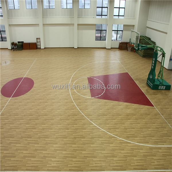 Customized outdoor basketball court rubber flooring, customized basketball court pvc laminate flooring