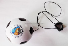 63mm dia yoyo ball,stress soccer with elastic string,able to print logo