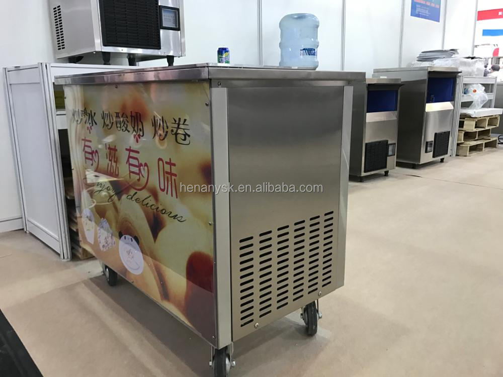2018 Trending ProductsCold Stone Table Fried Ice Cream Roll Machine