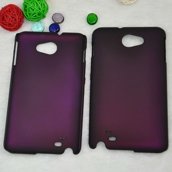 Napov- hard protective metal color rubber mobile phone case back cover for samsung galaxy note case gt-n7000 i9220
