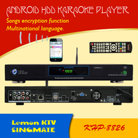 Hard drive karaoke jukebox /player with 1080P Air KTV selet songs through wifi with iPhone/Android mobile phone