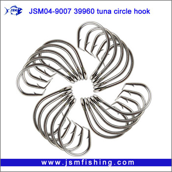 Wholesale high quality 39960 Stainless Steel Circle Fishing Hook for sea fishing JSM04-39960