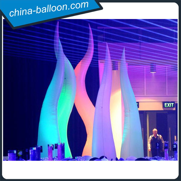lighting inflatable flame / hotel and restaurant decoration inflatable wave tube