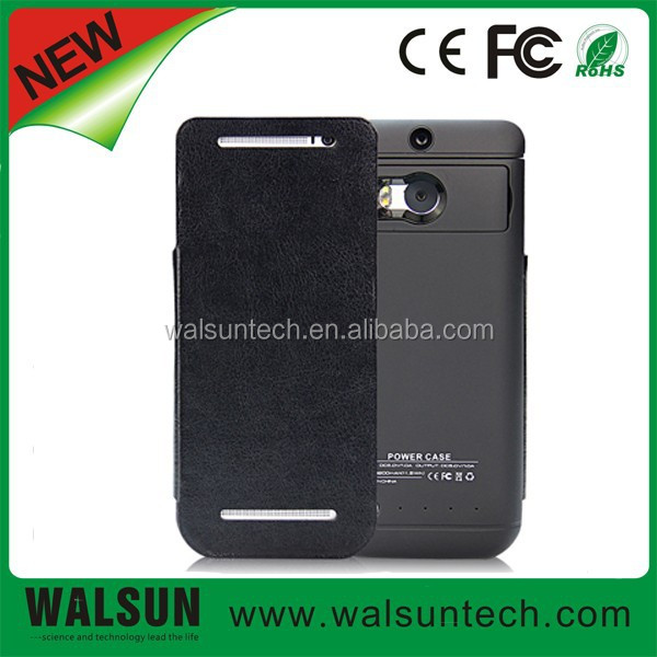 Slim External mobile phone power bank battery pack case for HTC 3200mah