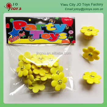 Wholesale flower design plastic ring