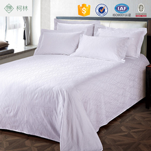 cheap price apartment use hotel bedding deluxe bed sheet solid patchwork hotel sheet